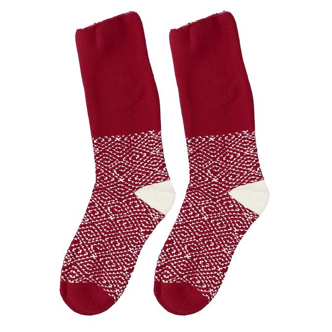 Červené dámské zimní ponožky bata, červená, 919-5738 - 26
