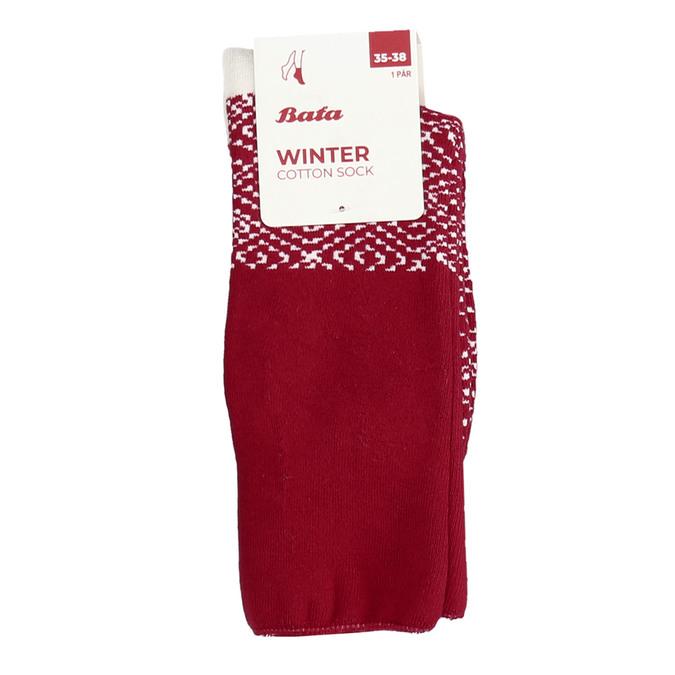 Červené dámské zimní ponožky bata, červená, 919-5738 - 13