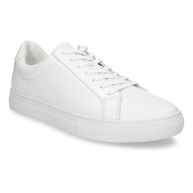 Bílé pánské kožené tenisky vagabond, bílá, 844-1602 - 13