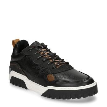 Černé kožené tenisky v městském stylu bata, černá, 846-6621 - 13