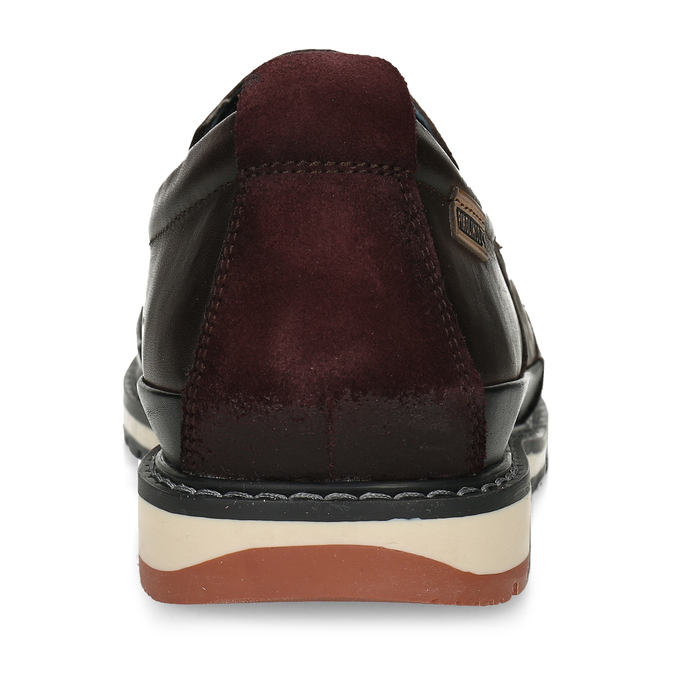 Pánská kožená slip-on obuv hnědá pikolinos, hnědá, 836-4602 - 15