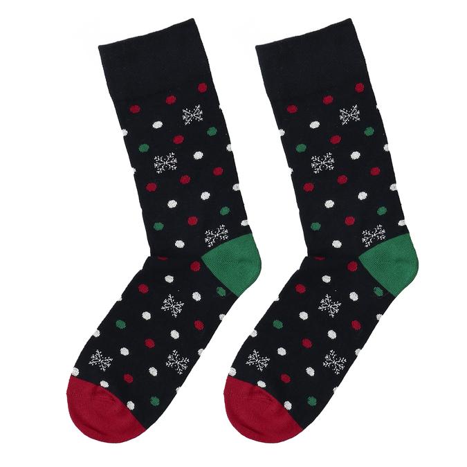 Vánoční ponožky s motivem vloček bata, vícebarevné, 919-0734 - 26