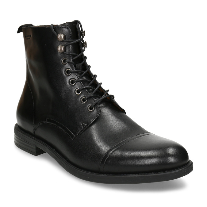 Elegantní pánská kotníková obuv kožená vagabond, černá, 894-6609 - 13