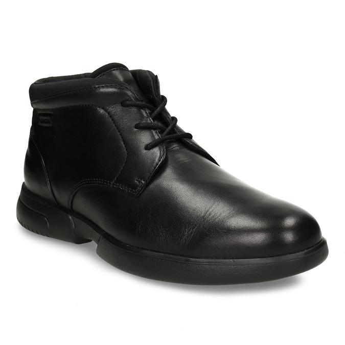 Černá kožená kotníková obuv geox, černá, 896-6702 - 13