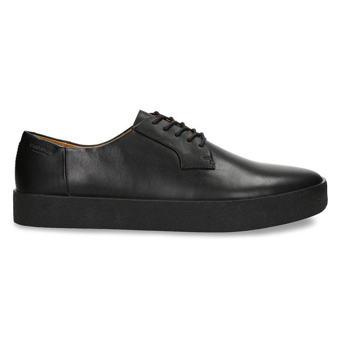 Černé pánské kožené tenisky s vyšší podešví vagabond, černá, 844-6601 - 19
