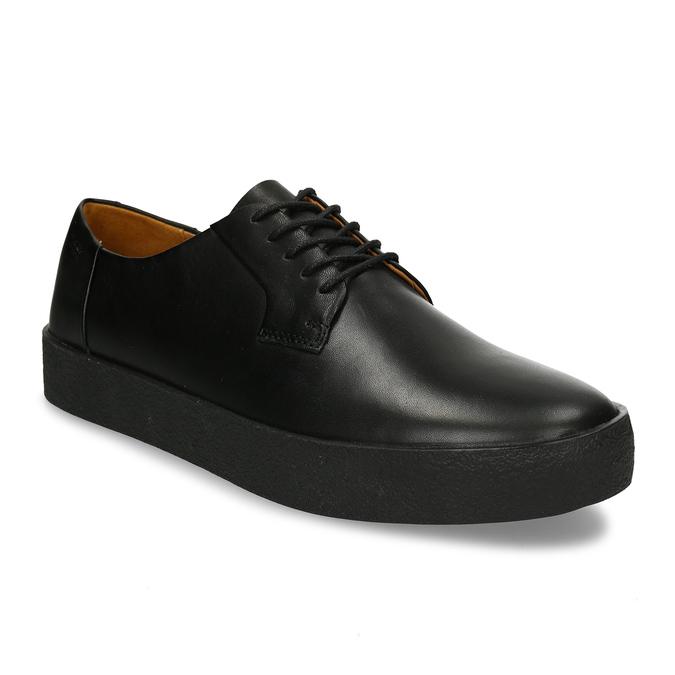 Černé pánské kožené tenisky s vyšší podešví vagabond, černá, 844-6601 - 13