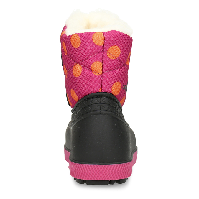 Růžové dívčí sněhule s hrubší podešví coqui, růžová, 192-5700 - 15