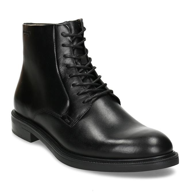 Černá dámská kožená kotníková obuv na zip vagabond, černá, 594-6706 - 13