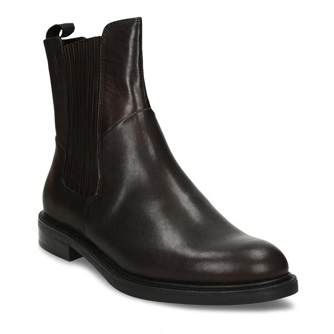 Hnědá dámská kožená kotníková obuv vagabond, hnědá, 594-4625 - 13