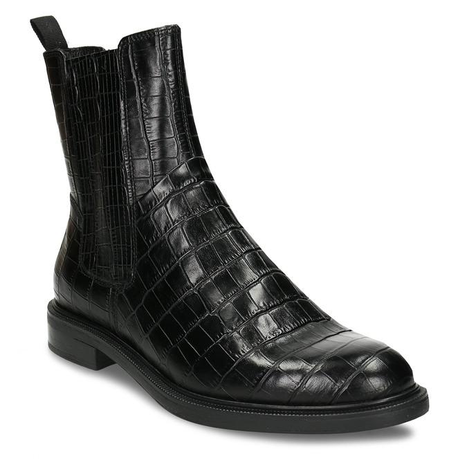 Černá kožená dámská Chelsea obuv vagabond, černá, 594-6699 - 13