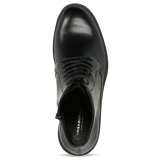 Černá dámská kožená kotníková obuv na zip vagabond, černá, 594-6706 - 17
