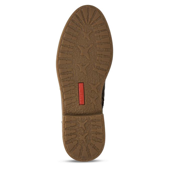 Hnědá dámská kožená kotníková obuv s přezkou pikolinos, hnědá, 596-4618 - 18