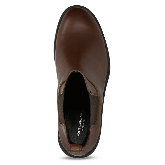 Hnědá kotníková dámská kožená obuv vagabond, hnědá, 594-4628 - 17