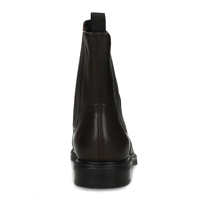 Hnědá dámská kožená kotníková obuv vagabond, hnědá, 594-4625 - 15