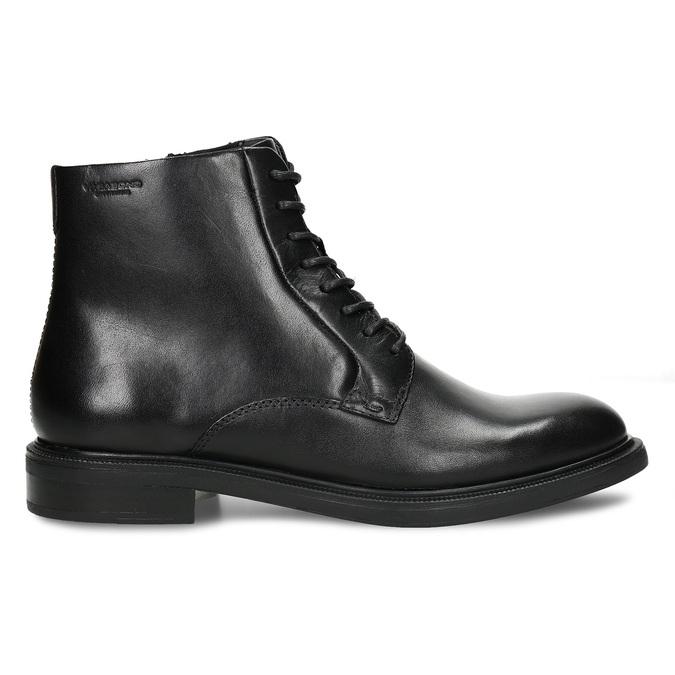 Černá dámská kožená kotníková obuv na zip vagabond, černá, 594-6706 - 19