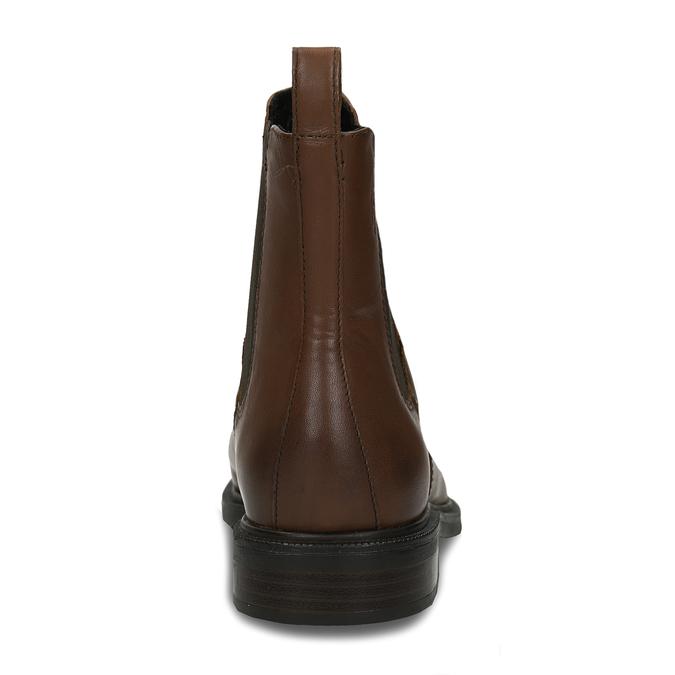 Hnědá kotníková dámská kožená obuv vagabond, hnědá, 594-4628 - 15