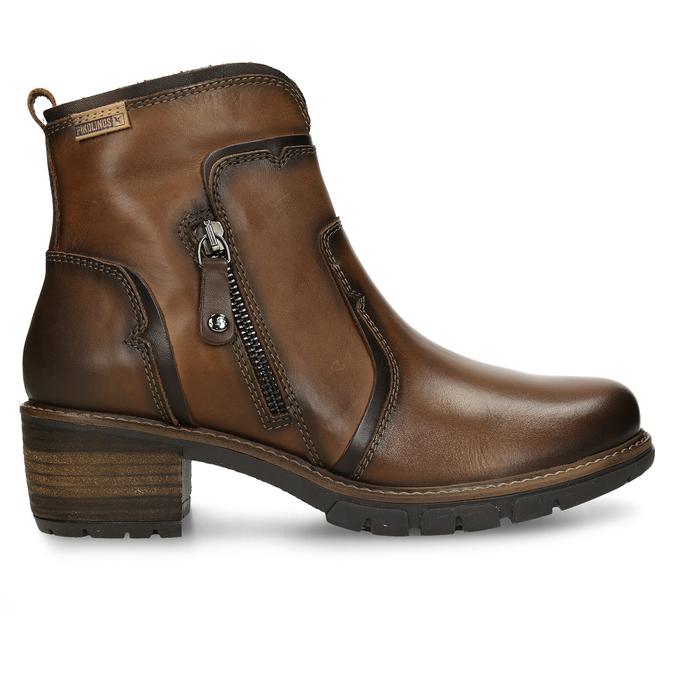 Hnědá dámská kožená kotníková obuv pikolinos, hnědá, 696-4628 - 19