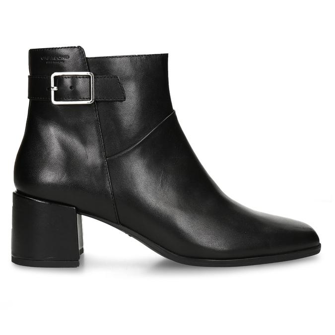 Dámská kotníková obuv v černé kůži s přezkou vagabond, černá, 794-6629 - 19