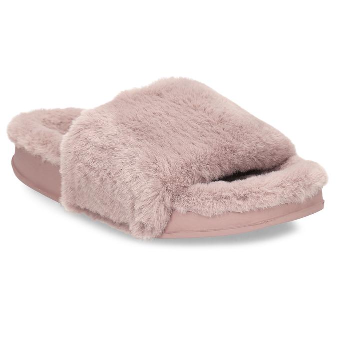 Dámské starorůžové pantofle s kožíškem north-star, růžová, 579-5610 - 13