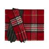 Červený károvaný set – šála a kožené rukavice junek, červená, 949-5106 - 13