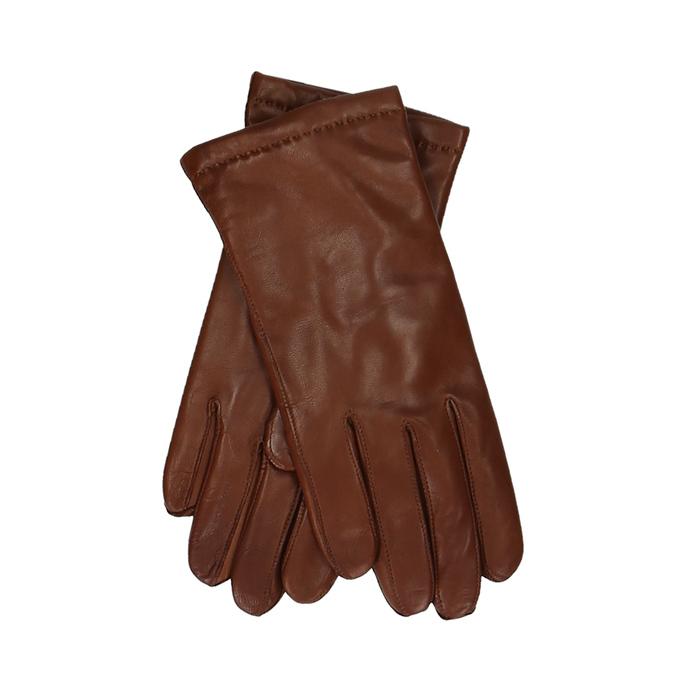 Pánské kožené rukavice v kaštanové barvě junek, hnědá, 944-4105 - 13