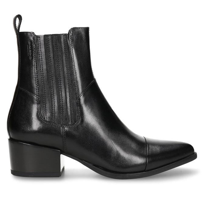 Černá dámská kožená kotníková obuv v Chelsea stylu vagabond, černá, 694-6649 - 19