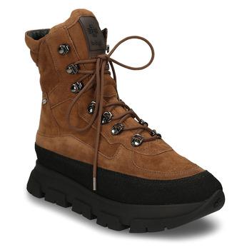 Hnědá dámská zimní kotníková obuv s Gore-tex membránou hogl, hnědá, 593-3601 - 13