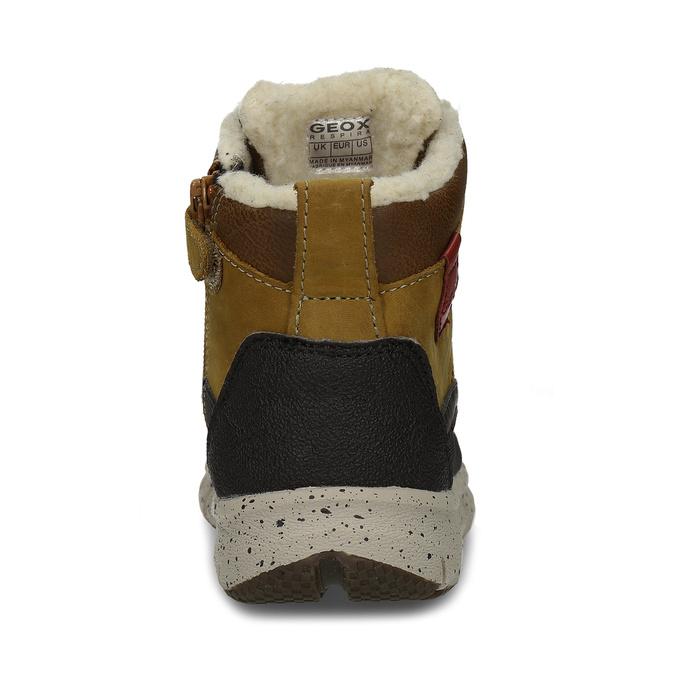 Hnědá chlapecká kotníková zimní obuv geox, hnědá, 391-8378 - 15