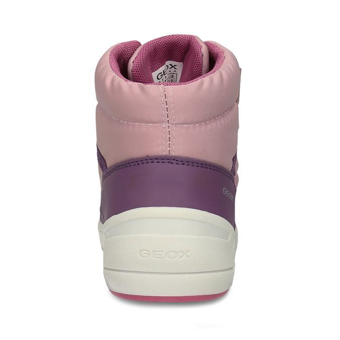 Růžovo-fialové dívčí zimní tenisky geox, růžová, 399-5376 - 15