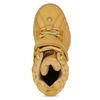 Žluté dámské kožené kotníkové tenisky na vysoké podešvi buffalo, hnědá, 546-8611 - 17