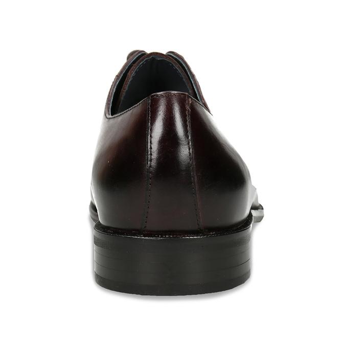 Tmavě hnědé kožené polobotky bata, hnědá, 826-4657 - 15