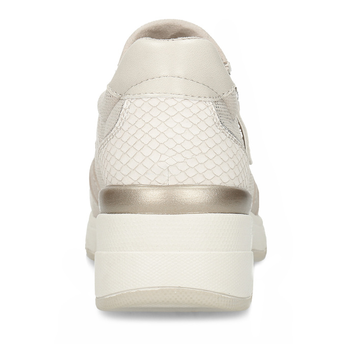 Béžové dámské tenisky na vyšší podešvi bata-light, béžová, 521-8600 - 15