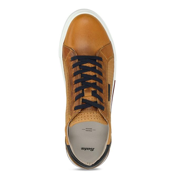 Kožené pánské tenisky v městském stylu hnědé bata, hnědá, 846-8616 - 17