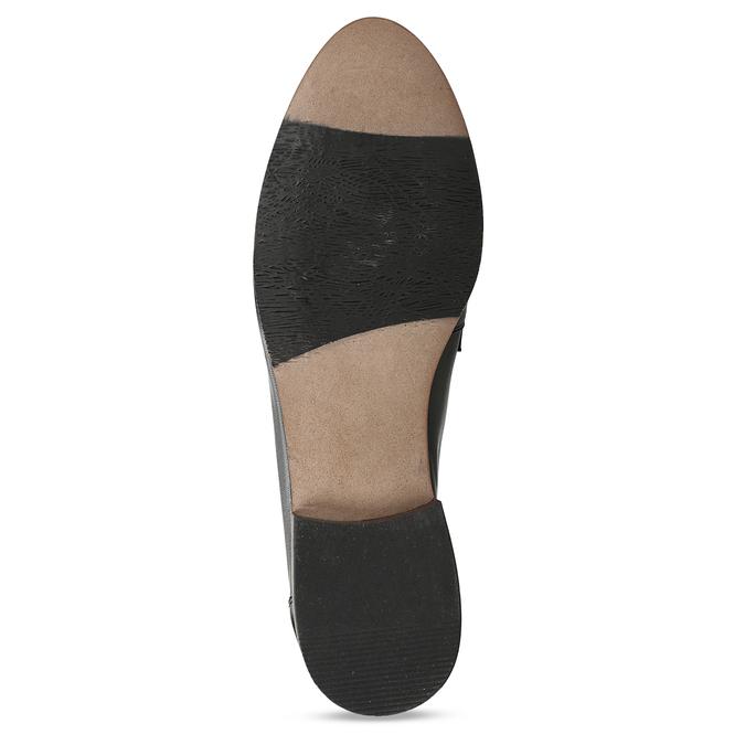 Kožené dámské mokasíny černé bata, černá, 516-6600 - 18