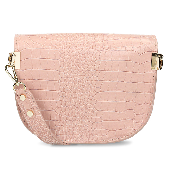 Růžová kožená dámská kabelka s hadím vzorem bata, růžová, 964-5606 - 16