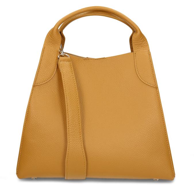 Žlutá kožená dámská kabelka s vnitřní taštičkou bata, žlutá, 964-8626 - 16