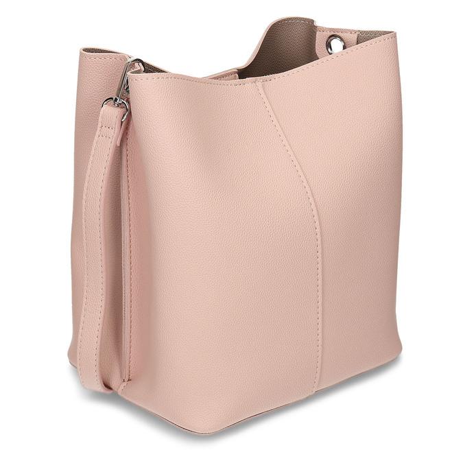 Růžová dámská kabelka s prošitím bata, růžová, 961-0351 - 13