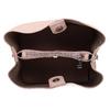 Růžová dámská kabelka s prošitím bata, růžová, 961-0351 - 15