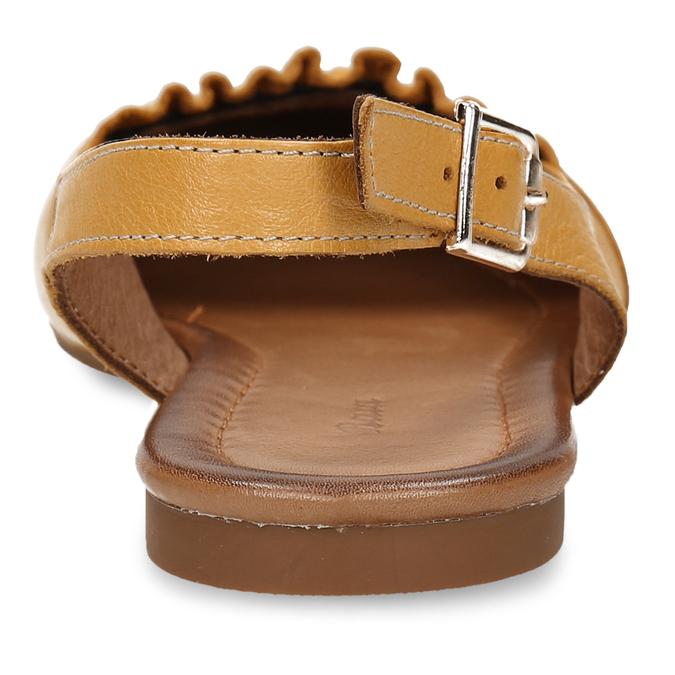 Hořčicově žluté dámské kožené sandály s uzavřenou špičkou bata, žlutá, 526-8623 - 15