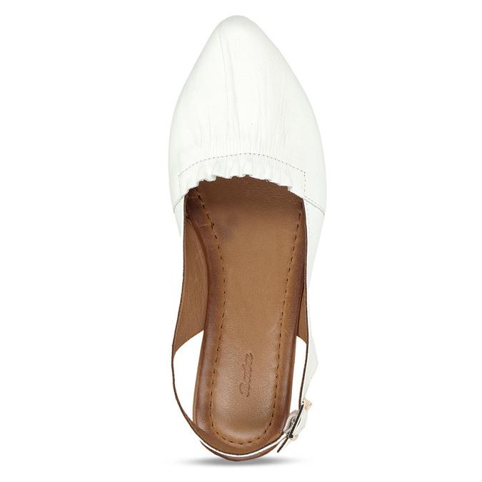 Bílá dámská kožená letní obuv s otevřenou patou bata, bílá, 524-1623 - 17