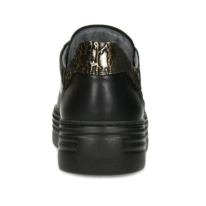 Černé kožené dámské tenisky nerogiardini, černá, 544-6622 - 15