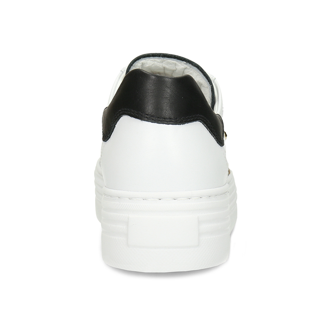 Bílé kožené dámské tenisky nerogiardini, bílá, 544-1622 - 15