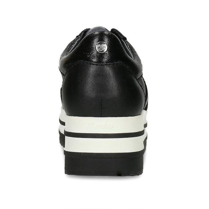 DÁMSKÉ ČERNÉ TENISKY NA FLATFORMĚ bata-light, černá, 541-6623 - 15
