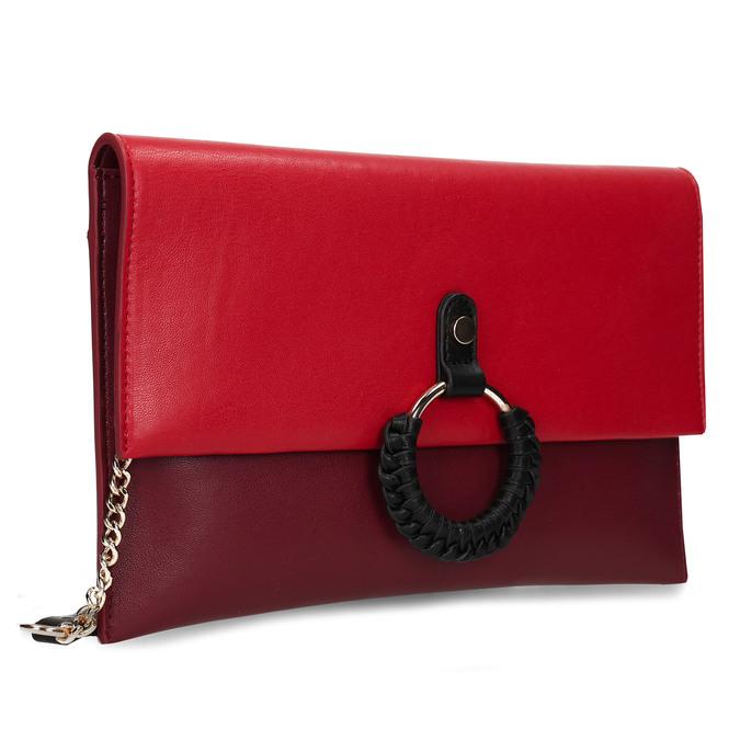 Červeno-vínové dámské psaníčko bata, červená, 961-5648 - 13