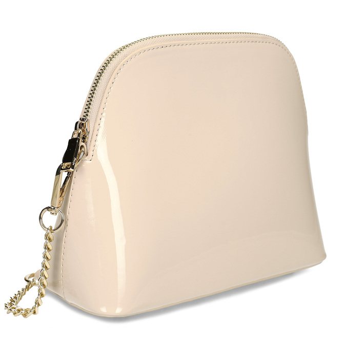 Malá růžová lakovaná kabelka bata, růžová, 961-5641 - 13