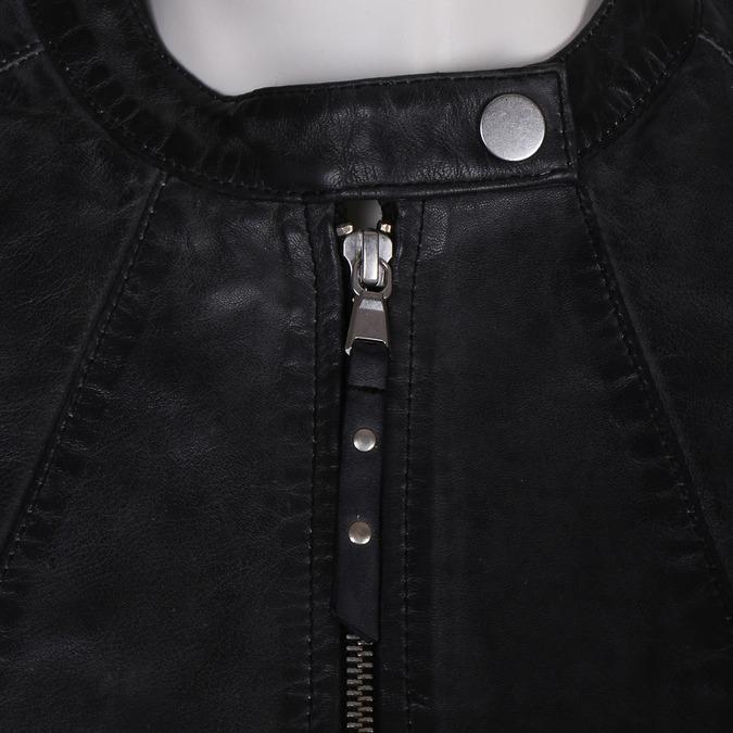 Černá kožená dámská bunda bata, černá, 974-6203 - 16
