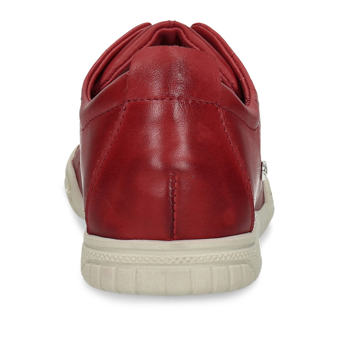 ČERVENÁ DÁMSKÁ KOŽENÁ OBUV S KONTRASTNÍMI PRVKY bata, červená, 524-5600 - 15