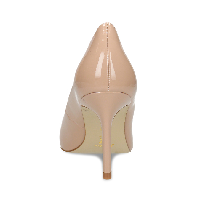 Krémové dámské lodičky s koženou stélkou bata, béžová, 721-6600 - 15