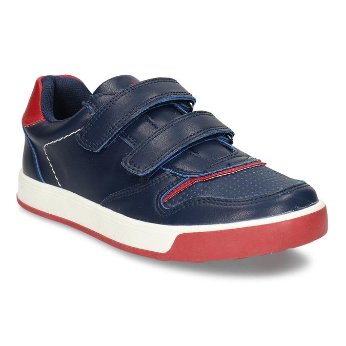Modré dětské tenisky na suchý zip mini-b, modrá, 311-9602 - 13