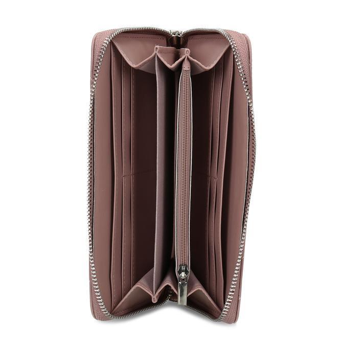 Dámská peněženka s prošitím růžová bata, růžová, 941-0110 - 15